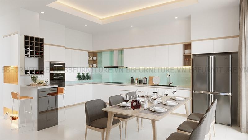Thiết kế 3D nội thất phòng ăn nhà anh Vinh Quận Thủ Đức